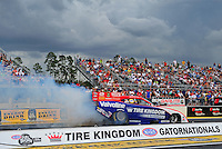 Mar. 9, 2012; Gainesville, FL, USA; NHRA funny car driver Johnny Gray during qualifying for the Gatornationals at Auto Plus Raceway at Gainesville. Mandatory Credit: Mark J. Rebilas-