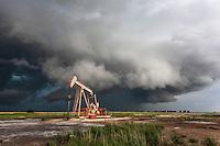 Severe Thunderstorm behind an Oil Pump in Kansas