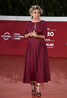 """Italian actress Valeria Golino poses on the red carpet for the screening of the film """"Les Discours"""" during the 15th Rome Film Festival (Festa del Cinema di Roma) at the Auditorium Parco della Musica in Rome on October 19, 2020.<br /> UPDATE IMAGES PRESS/Isabella Bonotto"""
