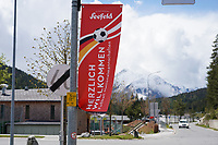 Begrüßungsbanner für die Deutsche Mannschaft in Seefeld - Seefeld 25.05.2021: Trainingslager der Deutschen Nationalmannschaft zur EM-Vorbereitung