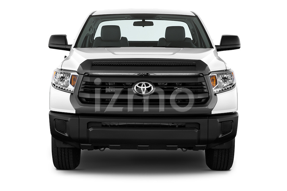 Car photography straight front view of a 2017 Toyota Tundra 5.7 Auto SR Regular Cab 2 Door Truck Front View