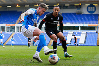 1st May 2021; Weston Homes Stadium, Peterborough, Cambridgeshire, England; English Football League One Football, Peterborough United versus Lincoln City; Sammie Szmodics of Peterborough United holds the ball up