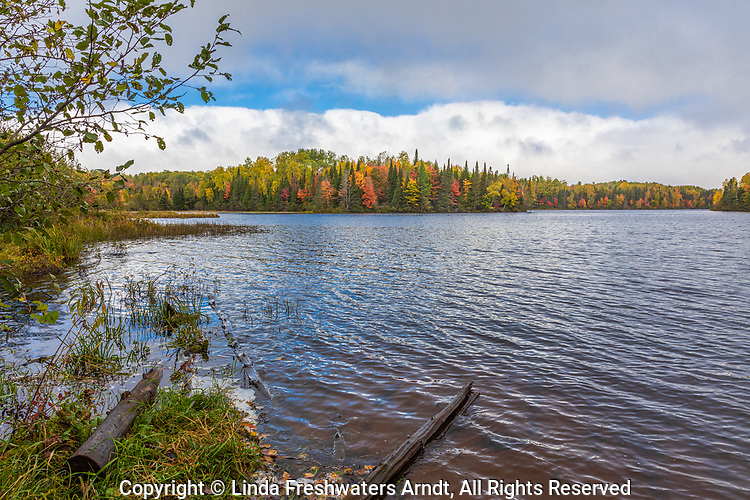 Autumn on Day Lake in the Chequamegon National Forest in northern Wisconisn.