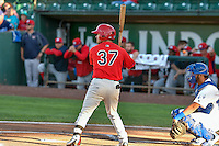 Zach Gibbons (37) of the Orem Owlz at bat against the Ogden Raptors in Pioneer League action at Lindquist Field on September 9, 2016 in Ogden, Utah. This was Game 1 of the Southern Division playoff. Orem defeated Ogden 6-5. (Stephen Smith/Four Seam Images)