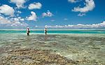 Bonefishing in the lagoon in Kiritimati, Kiribati