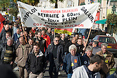 Retirement At 60.  Workers and students in the ex-coalmining town of Alès, in southern France, join a day of nationwide protest against the Sarkozy government's proposed pension reforms.