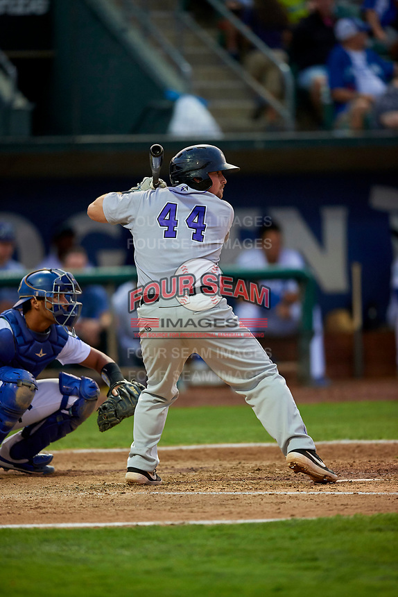Colin Simpson (44) of the Grand Junction Rockies at bat against the Ogden Raptors at Lindquist Field on September 9, 2019 in Ogden, Utah. The Raptors defeated the Rockies 6-5. (Stephen Smith/Four Seam Images)