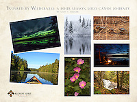 """""""Inspired by Wilderness: A Four Season Solo Canoe Journey""""<br /> This is a 18"""" x 24"""" commemorative poster design that features seven of Gary's incredible wilderness photographs. The images were captured during his special solo canoe trip, Inspired by Wilderness: A Four Season Solo Canoe Journey.<br /> <br /> The poster reads, """"Inspired by Wilderness: A Four Season Solo Canoe Journey by Gary L. Fiedler"""".<br /> <br /> The larger logo  that appears in the bottom right is our website watermark and will not appear on the printed poster. However, our smaller, attractive logo does appear in one of the corners of the printed poster.<br /> <br /> High quality, 18"""" x 24"""" poster printed on 100 lb. glossy paper, $24.95 each (plus tax, if applicable). Shipped Standard USPS, rolled in square cardboard tube. $5.00 total shipping on poster orders sent to the same single address, whether 1 poster or 100 posters. (If flat shipping is desired, contact us prior to ordering. The shipping fee will be higher.) To place a wholesale order, please contact us."""