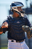 New York Yankees Hemmanuel Rosario (21) during a Minor League Spring Training game against the Detroit Tigers on March 21, 2018 at the New York Yankees Minor League Complex in Tampa, Florida.  (Mike Janes/Four Seam Images)