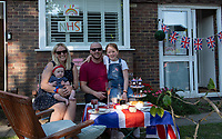 A street party in Sidcup, Kent, England 8th May 2020. Victory in Europe (VE) 75th Anniversary Celebrations during the UK Lockdown due to the Coronavirus pandemic. Photo by Alan Stanford / PRiME Media Images