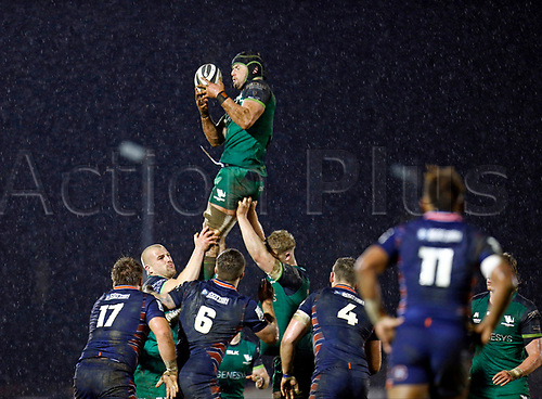 13th March 2021; Galway Sportsgrounds, Galway, Connacht, Ireland; Guinness Pro 14 Rugby, Connacht versus Edinburgh; Eoghan Masterson catches a line out for Connacht