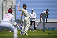 NZ's Will Young bats during day one of the International Test Cricket match between the New Zealand Black Caps and West Indies at the Basin Reserve in Wellington, New Zealand on Friday, 11 December 2020. Photo: Dave Lintott / lintottphoto.co.nz