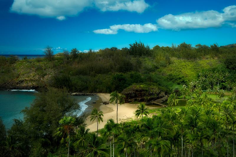 Beach at Alerton Gardens. Kauai, Hawaii