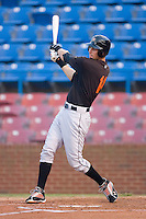 Billy Rowell #11 of the Frederick Keys follows through on his swing versus the Winston-Salem Dash at Wake Forest Baseball Stadium August 6, 2009 in Winston-Salem, North Carolina. (Photo by Brian Westerholt / Four Seam Images)
