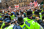 © Joel Goodman - 07973 332324 . 09/07/2011 . Cambridge , UK . The English Defence League hold a march and demonstration in Cambridge, opposed by a coalition of anti-fascist groups . Photo credit : Joel Goodman