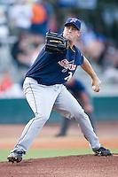 Starting pitcher Derek Miller (20) of the Huntsville Stars in action at the Baseball Grounds in Jacksonville, FL, Thursday June 12, 2008.