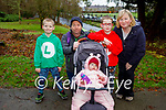 Ryan, Dylan, Maria, Des and Louise Fitzgerald enjoying a stroll in the town park in Killarney on Saturday.