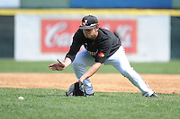 University of Louisville Cardinals infielder Nick Solak (17) during practice before a game against the Temple University Owls at Campbell's Field on May 10, 2014 in Camden, New Jersey. Temple defeated Louisville 4-2.  (Tomasso DeRosa/ Four Seam Images)