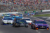 2017 Monster Energy NASCAR Cup Series<br /> O'Reilly Auto Parts 500<br /> Texas Motor Speedway, Fort Worth, TX USA<br /> Sunday 9 April 2017<br /> Denny Hamlin, FedEx Office Toyota Camry and Kurt Busch<br /> World Copyright: Russell LaBounty/LAT Images<br /> ref: Digital Image 17TEX1rl_4088