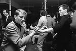 Blitz Kids New Romantics at The Blitz Club Covent Garden, London, England 1980. <br /> <br /> David Holah and John Maybury dancing the night away. Thanks to Kim Bowen