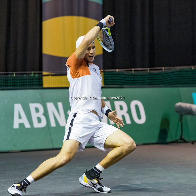 Rotterdam, The Netherlands, 3 march  2021, ABNAMRO World Tennis Tournament, Ahoy, First round match:  Jan-Lennard Struff (GER)<br /> Photo: www.tennisimages.com/