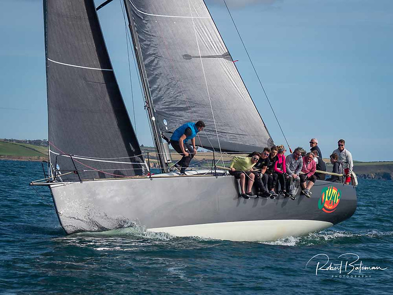 Conor Phelan's Ker Jump Juice has recovered from the hull drama that beset her prior to this month's ICRA Nationals on Dublin Bay and is looking forward to competition on home waters Photo: Bob Bateman