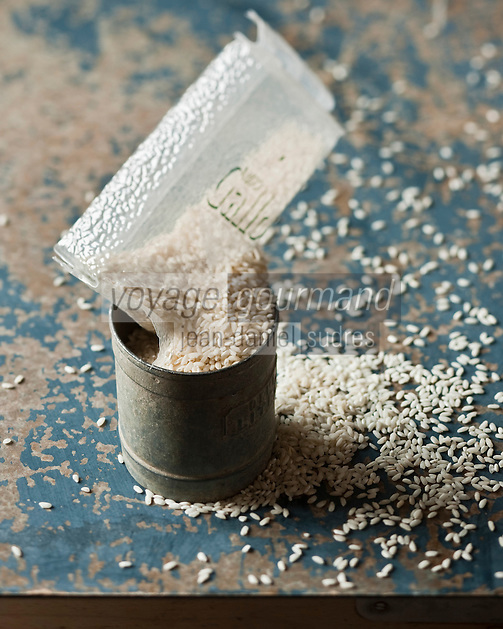 Europe/Italie/Gènes: Riso Gallo - Riz pour  Risotto   // Europe, Italy, Genoa : Riso Gallo, rice for   Risotto <br /> <br /> - Stylisme : Valérie LHOMME