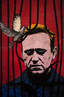 27.01.2021 - Freedom - Aleksej Navalny Graffiti By Harry Greb in Rome