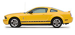 Driver side profile side view of a 2006 Ford Mustang Coupe