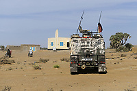 MALI, Gao, Minusma UN peace keeping mission, Camp Castor, german army Bundeswehr, patrol in village BAGOUNDJÉ, mosque
