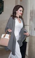 January 30 2O18, PARIS FRANCE<br /> Actress Angelina Jolie leaves the Hotel Meurice In Paris. # ANGELINA JOLIE A PARIS