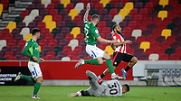 Birmingham goalkeeper, Neil Etheridge makes a fine save at the feet of Brentford's Bryan Mbeumo during Brentford vs Birmingham City, Sky Bet EFL Championship Football at the Brentford Community Stadium on 6th April 2021