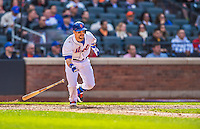20 April 2013: New York Mets outfielder Collin Cowgill in action against the Washington Nationals at Citi Field in Flushing, NY. The Mets fell to the visiting Nationals 7-6, tying their 3-game weekend series at one a piece. Mandatory Credit: Ed Wolfstein Photo *** RAW (NEF) Image File Available ***