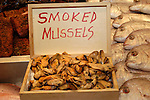 Smoked mussels. Pike Place Market, Seattle, WA.