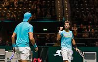 Rotterdam, The Netherlands, 14 Februari 2019, ABNAMRO World Tennis Tournament, Ahoy, <br /> Jean-Julien Rojer (NED) / Horia Tecau (ROU),<br /> Photo: www.tennisimages.com/Henk Koster