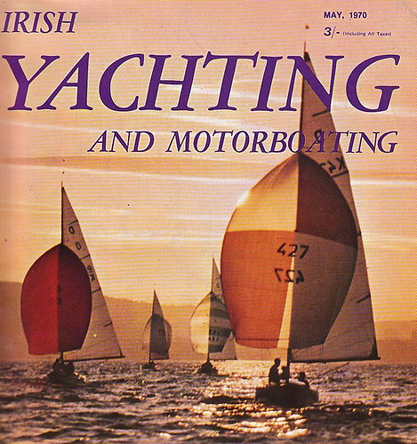 Cover girls….The International Dragon Class on an evening race in 1969 at Royal North of Ireland YC on Belfast Lough. RNIYC introduced the class to Ireland in the late 1930s, and for many years had the largest fleet, sending forth the 1948 Olympic helmsman Eric Strain