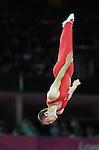 London 2012. Mens Trampoline Finals 3.8.12  North Greenwich Arena . BURNETT Jason  Canada