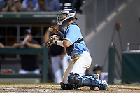 Cody Roberts (11) of the North Carolina Tar Heels on defense against the South Carolina Gamecocks at BB&T BallPark on April 3, 2018 in Charlotte, North Carolina. The Tar Heels defeated the Gamecocks 11-3. (Brian Westerholt/Four Seam Images)