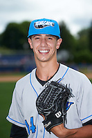 Hudson Valley Renegades pitcher Spencer Jones (14) poses for a photo before a game against the Batavia Muckdogs on July 31, 2016 at Dwyer Stadium in Batavia, New York.  Hudson Valley defeated Batavia 4-1.  (Mike Janes/Four Seam Images)
