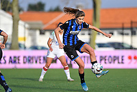 Marie Minnaert (13 Brugge) pictured during a female soccer game between Club Brugge Dames YLA and Oud Heverlee Leuven on the 8 th matchday of the 2020 - 2021 season of Belgian Scooore Womens Super League , saturday 21 th November 2020  in Knokke , Belgium . PHOTO SPORTPIX.BE | SPP | DAVID CATRY