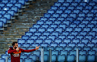 Football, Serie A: AS Roma - Parma, Olympic stadium, Rome, November 22, 2020. <br /> Roma's Borja Mayoral celebrates after scoring during the Italian Serie A football match between Roma and Parma at Rome's Olympic stadium, on November 22, 2020. <br /> UPDATE IMAGES PRESS/Isabella Bonotto