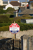 House for sale in the holiday resort village of Trevone in North Cornwall, where many houses are second homes.