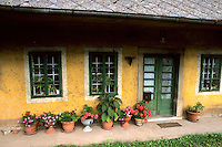 Slovenia house with flowers in Postojna Slovenia