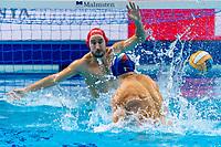 4 ITA FIGLIOLI Pietro Italy<br />  <br /> Budapest 16/01/2020 Duna Arena <br /> France (white caps) Vs. Italy (blue caps) Men<br /> XXXIV LEN European Water Polo Championships 2020<br /> Photo  ©Giorgio Scala / Deepbluemedia / Insidefoto