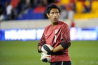 USA goalkeeper Fernando Pina (1). The USMNT U-17 defeated New York Red Bulls U-18 4-1 during a friendly at Red Bull Arena in Harrison, NJ, on October 09, 2010.