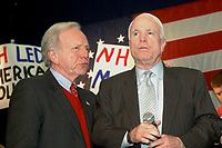 John McCain campaigning with Joe Lieberman in Exeter NH 3.12.08