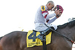 Royal Delta with Mike Smith up after winning the Sabin Stakes (G3) at Gulfstream Park. Hallandale Beach Florida. 02-17-2013