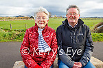 Mary and Michael Edwards enjoying a stroll in Lohercannon on Thursday.