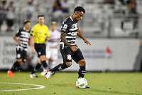 Orlando, FL - Saturday Jan. 21, 2017: Corinthians midfielder Paulo Roberto (28) during the second half of the Florida Cup Championship match between São Paulo and Corinthians at Bright House Networks Stadium. The game ended 0-0 in regulation with São Paulo defeating Corinthians 4-3 on penalty kicks.