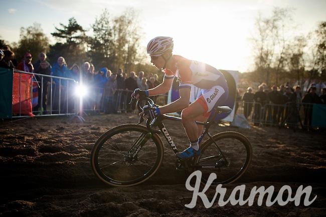 Dutch Champion Lars Van der Haar (NLD/Giant-Shimano)<br /> <br /> GP Zonhoven 2014